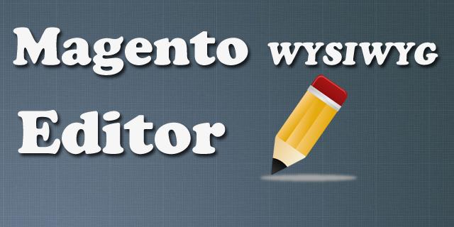 Magento WYSIWYG Editor