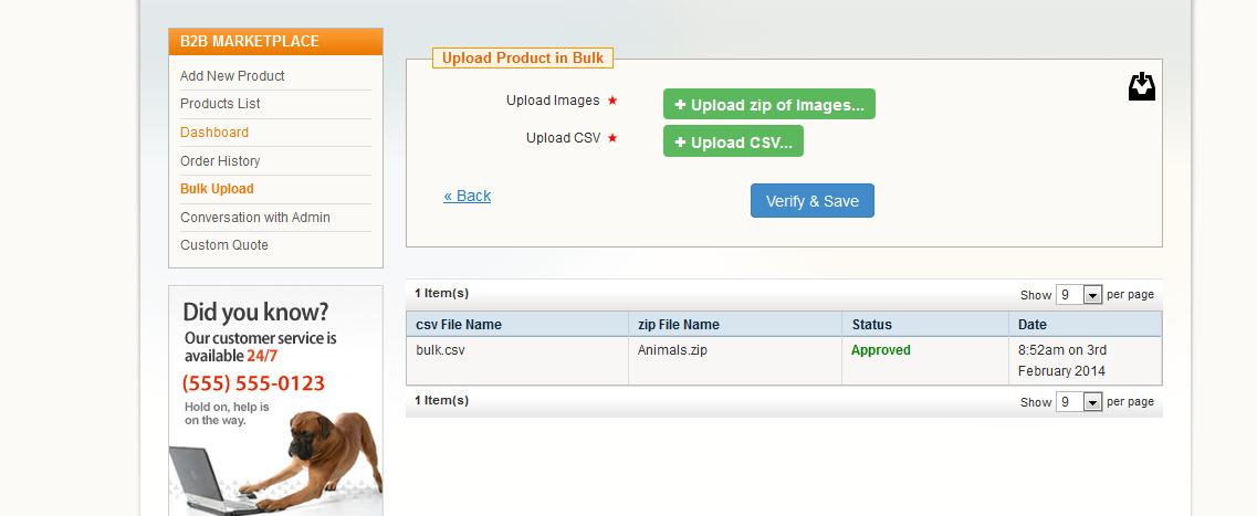 bulk upload in b2b marketplace