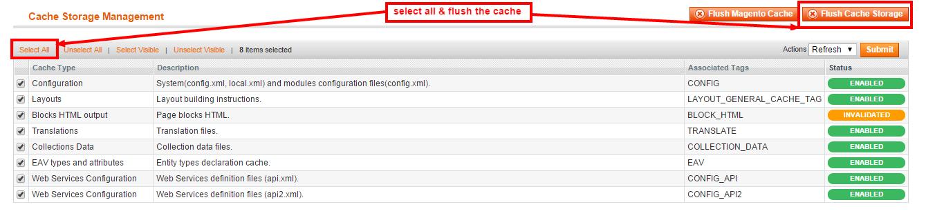 Cache Management   System   Magento Admin   WebKul   WebKul(1)