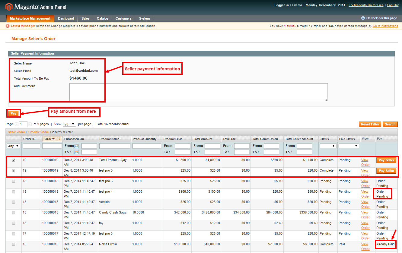 Manage Seller s Order   Magento Admin