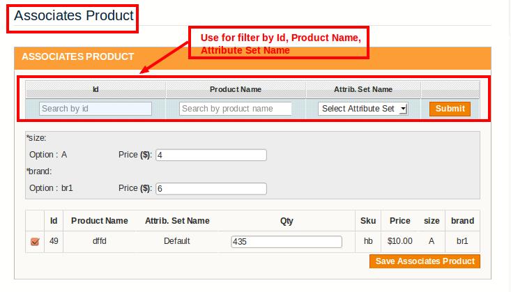 associate product