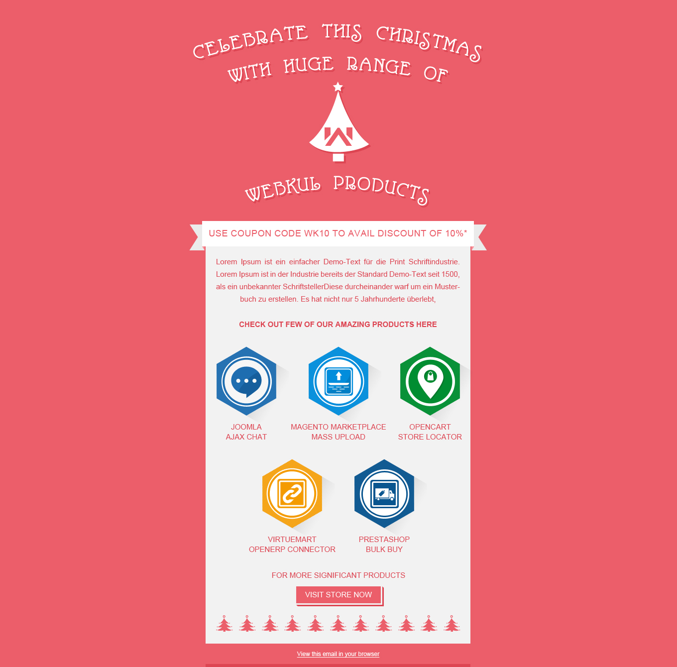 free christmas and new year newsletter template first of all a very happy and prosperous christmas to all the reader of webkul blog and users of our