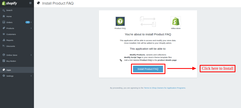 nitika store Authorize Product FAQ Shopify