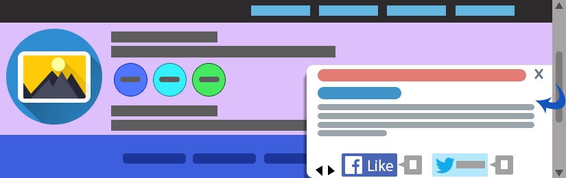 Joomla Page End Slide Box
