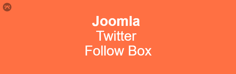 Joomla Twitter Follow Box