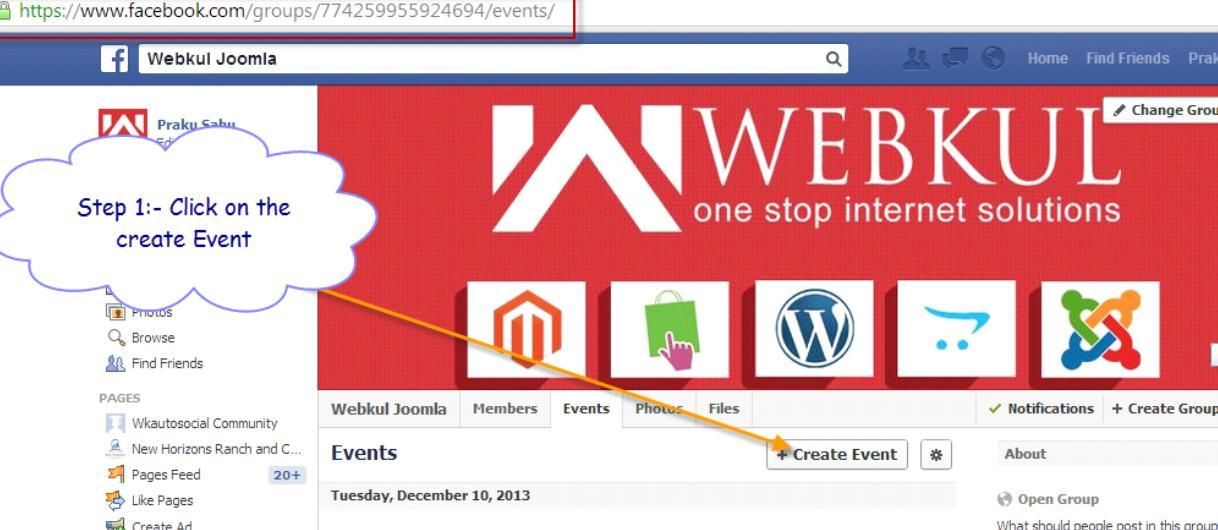 Wordpress Facebook Event
