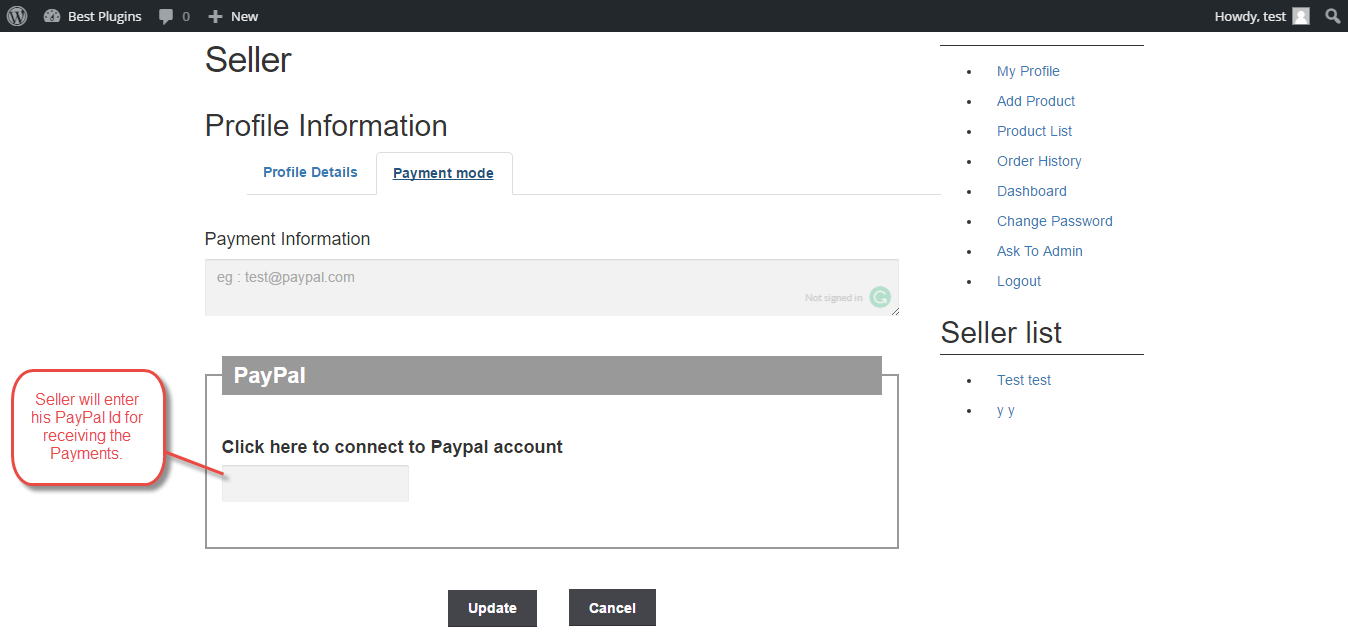 Workflow Of WooCommerce Marketplace PayPal Adaptive Payment