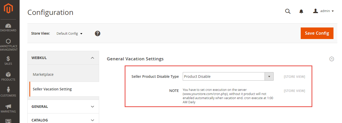 Seller Vacation Marketplace