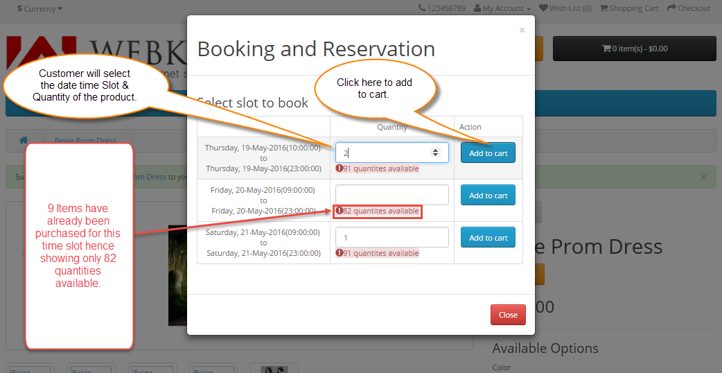 One Booking For Many Days