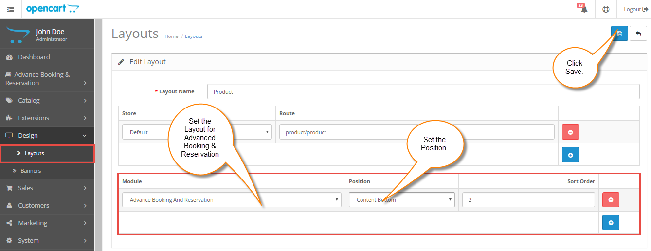 Admin Configuration for the Advanced Booking & Reservation Module
