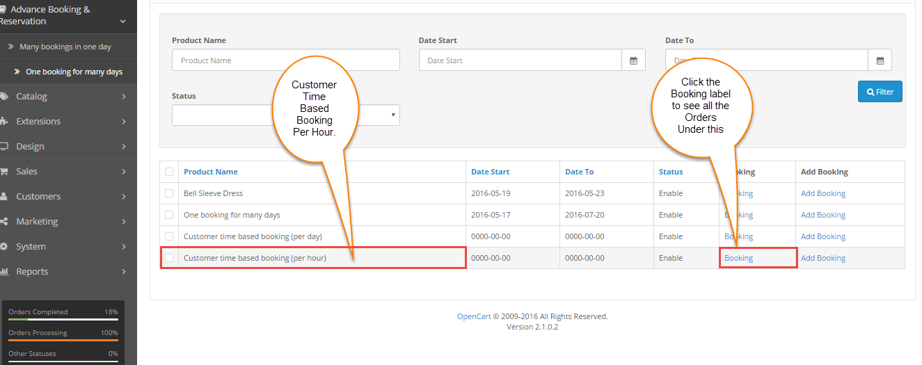 Customer Time Based Booking (Per Hour)