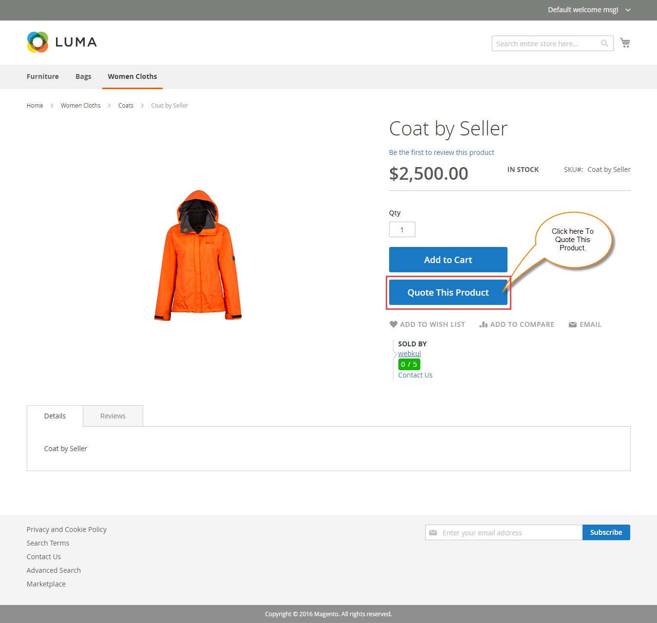 Seller Management Of Magento2 Marketplace Quote System