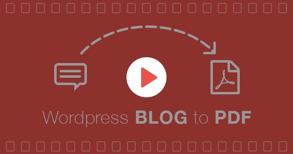 Blog to PDF Plugin for WordPress - 6