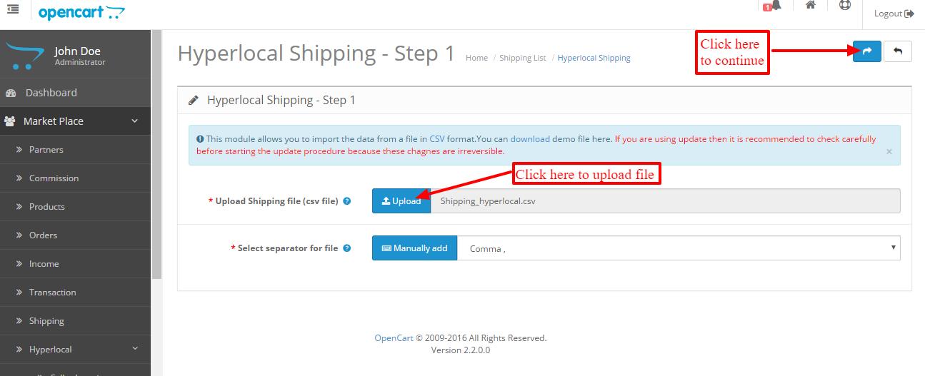 Hyperlocal Shipping