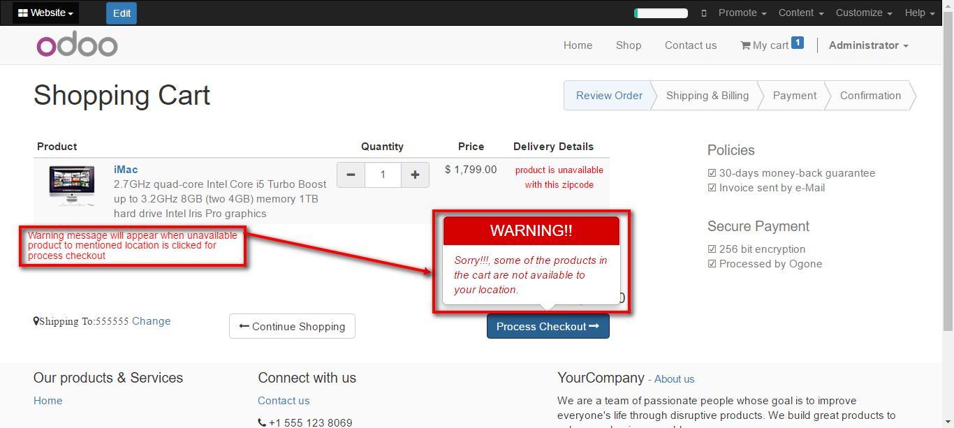Website Estimated Delivery Odoo Website Zipcode Validator - Us zip codes number
