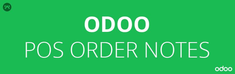 Odoo POS Order Notes