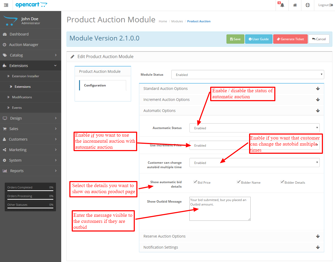 automatic-auction-settings