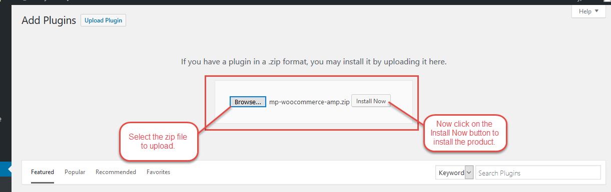Installation Of AMP WooCommerce Plugin