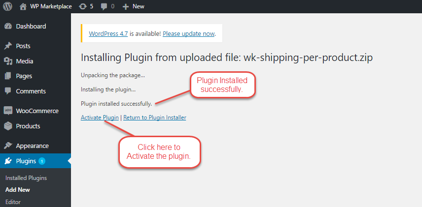 Installation Of WooCommerce Per Product Shipping