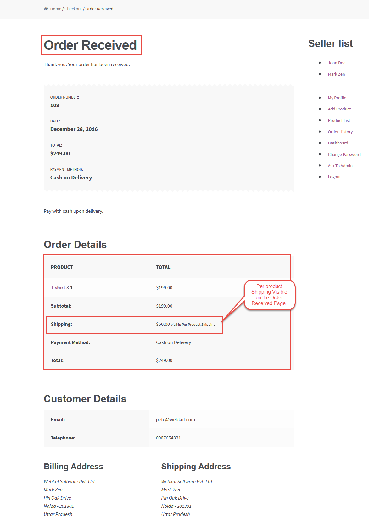 Workflow Of WooCommerce Marketplace Per Product Shipping