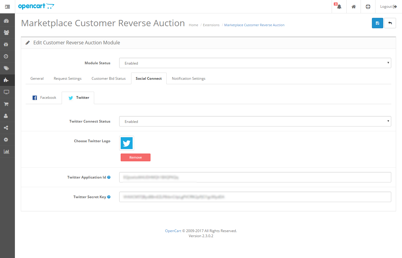 opencart marketplace customer reverse auction
