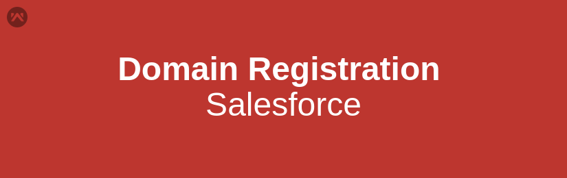 How to register your domain in salesforce
