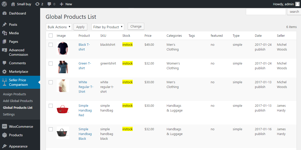 WordPress WooCommerce Marketplace Seller Price Comparison