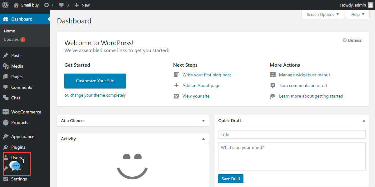 WordPress WooCommerce Admin Buyer Chat