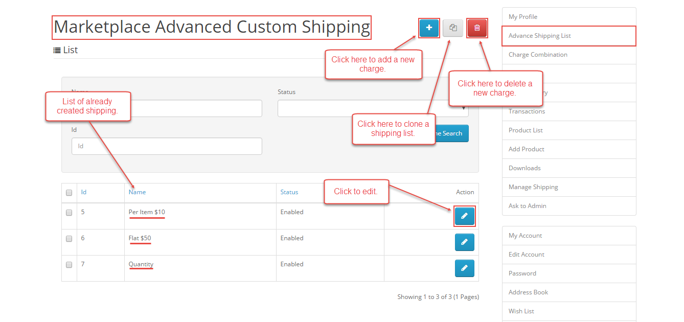 Seller Configuration - Opencart Marketplace Advanced Custom Shipping