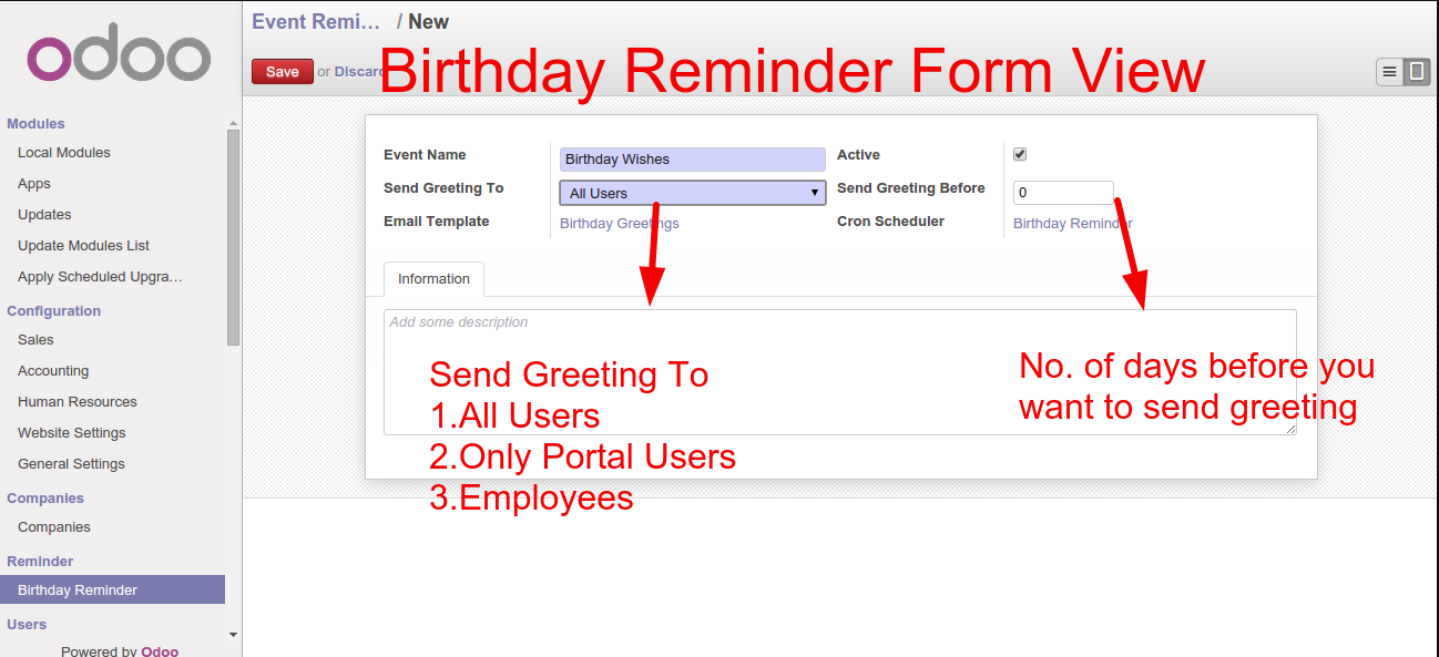 Click On Email Template Field It Will Redirect To Page Now Define The Name Select Whom Apply Content Be Sent