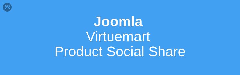 Joomla Virtuemart Product Social Share