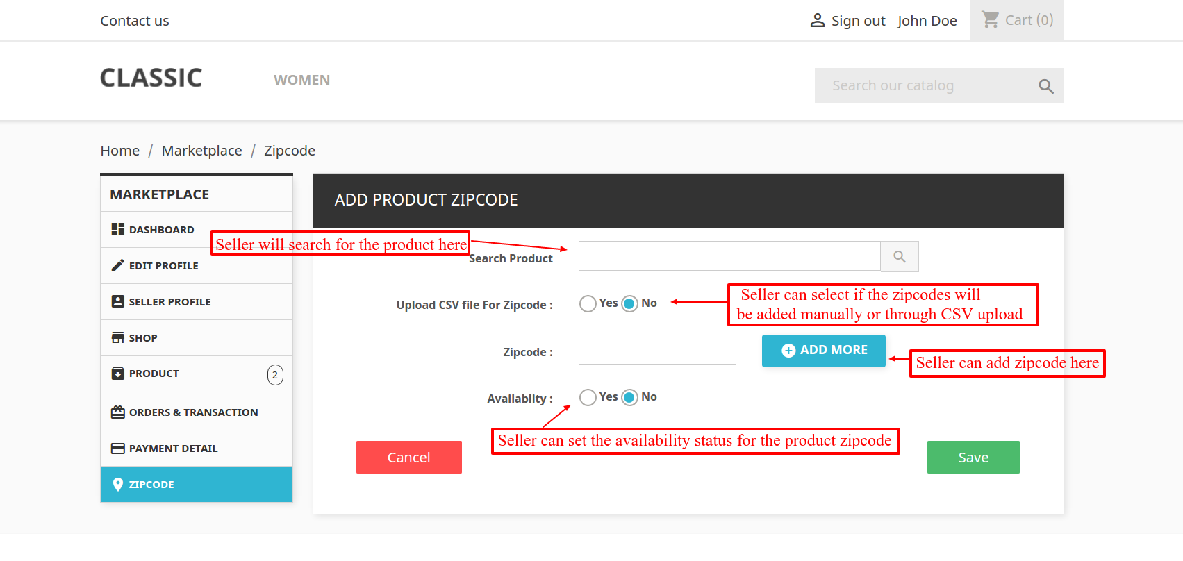 Prestashop Marketplace Zipcode Validator Product Availability Check - Us zip codes by state list