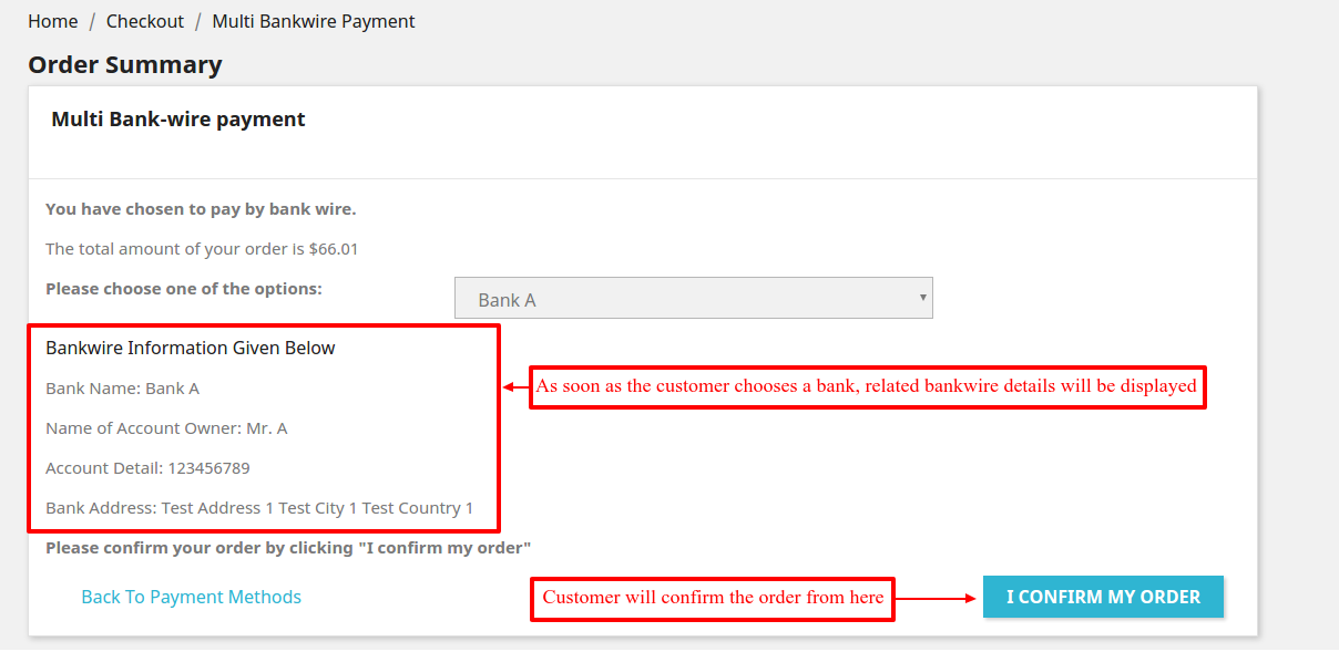 Bank Wire   Prestashop Multi Bank Wire Payment Multiple Bank Transfer
