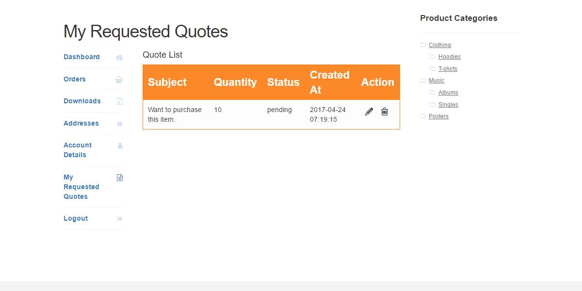WordPress WooCommerce Quote System