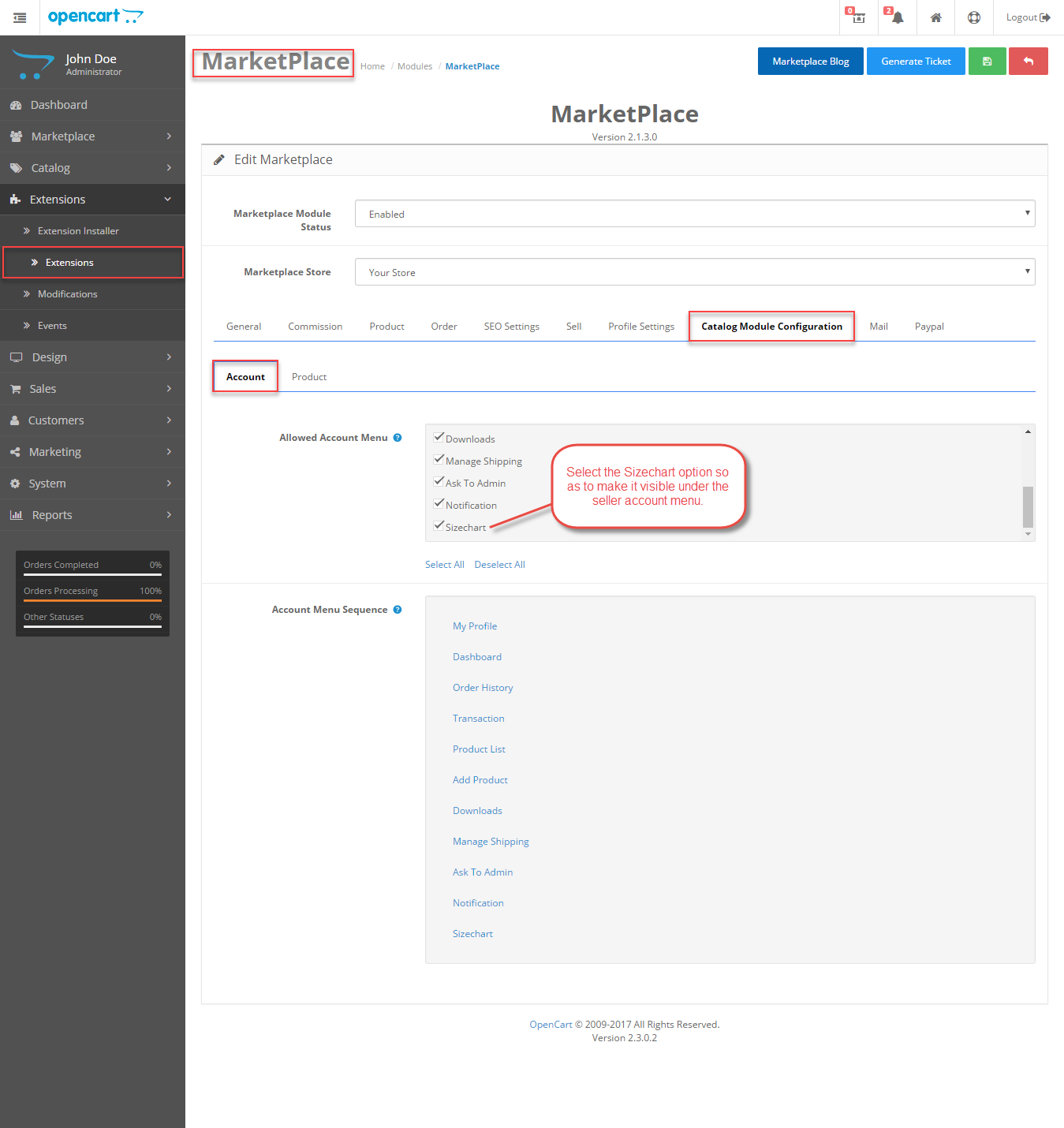 Catalog-Module-Configuration