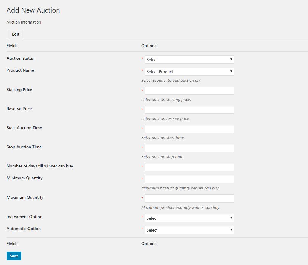 WordPress WooCommerce Marketplace Auction