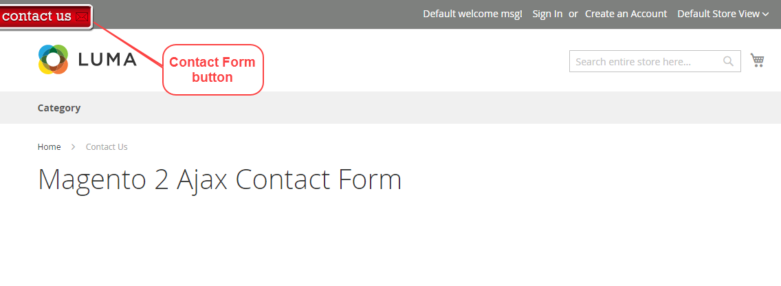 Magento 2 Ajax Contact Form Contact Us Widget
