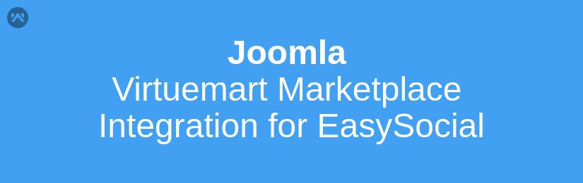 Joomla Virtuemart Marketplace integration for EasySocial