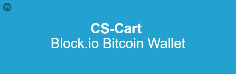 CS-Cart Block.io Bitcoin Wallet