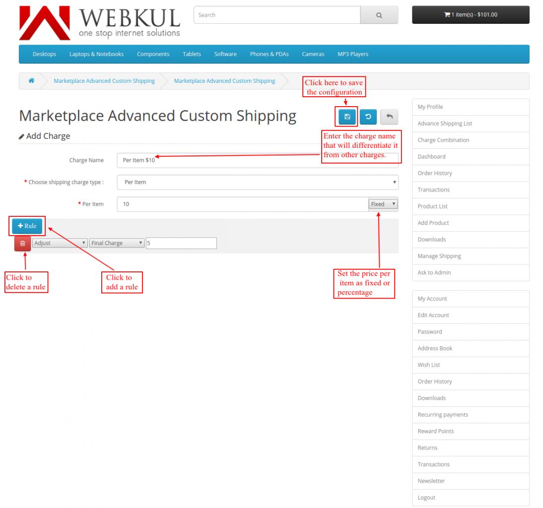 custom shipping formula