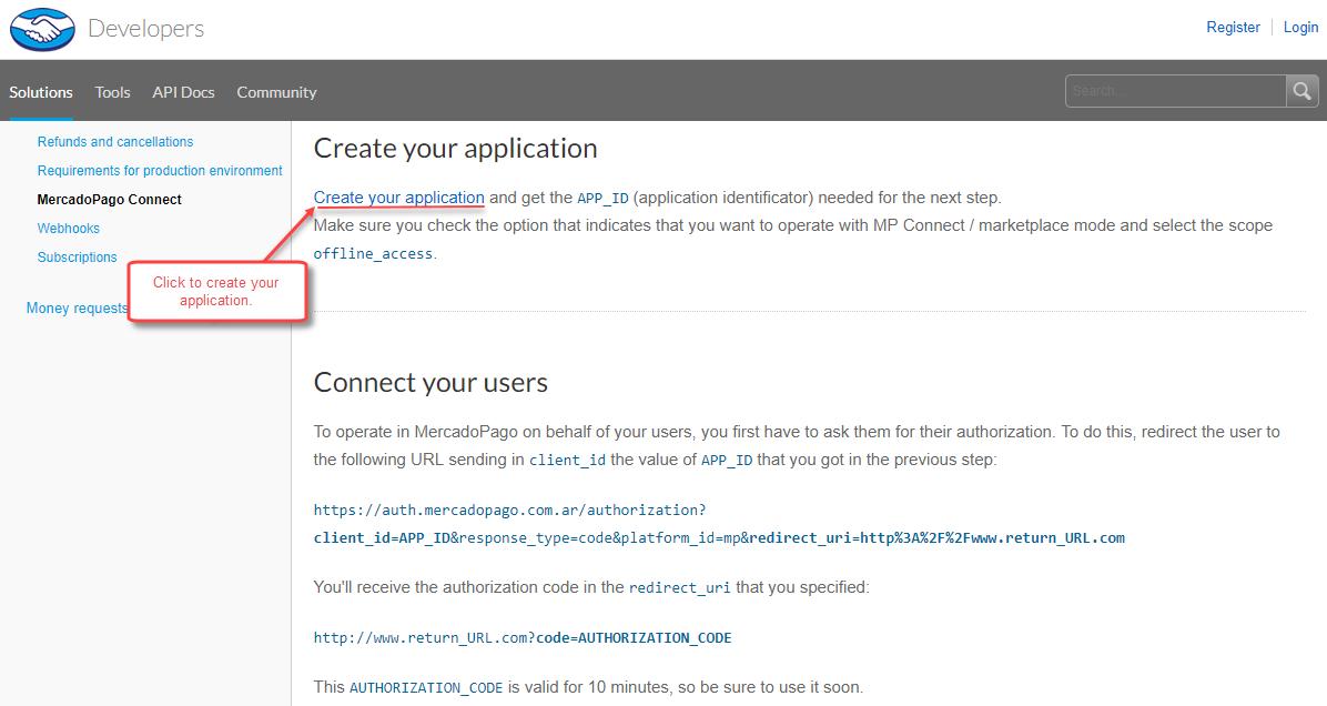 Click-Create-Application-Mercadopago