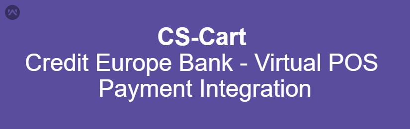 Credit Europe Bank – Virtual POS Payment Integration For CS-Cart