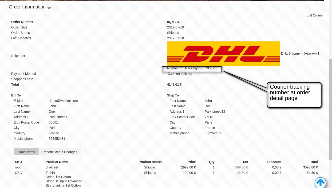 Dhl Customer Service Phone Number >> Joomla Virtuemart Dhl Shipment Shipping The Products In Worldwide