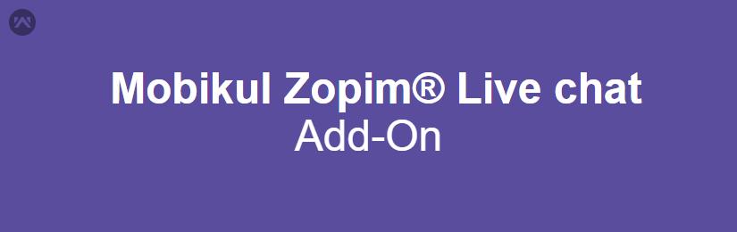 Mobikul Zopim Live Chat
