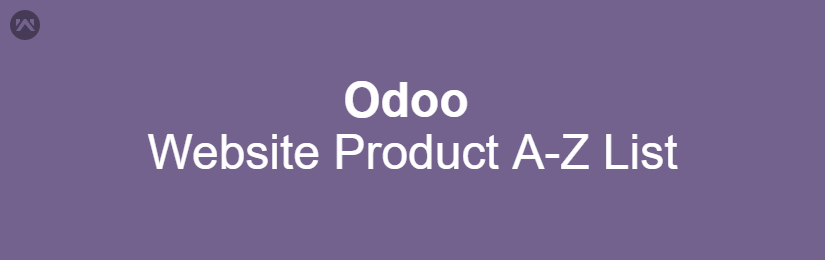 Odoo Website Product A-Z List