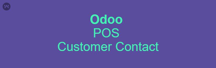 Odoo POS Customer Contact