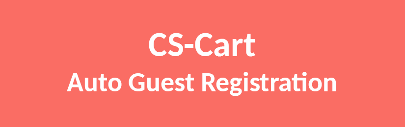 CS-Cart Auto Guest Registration
