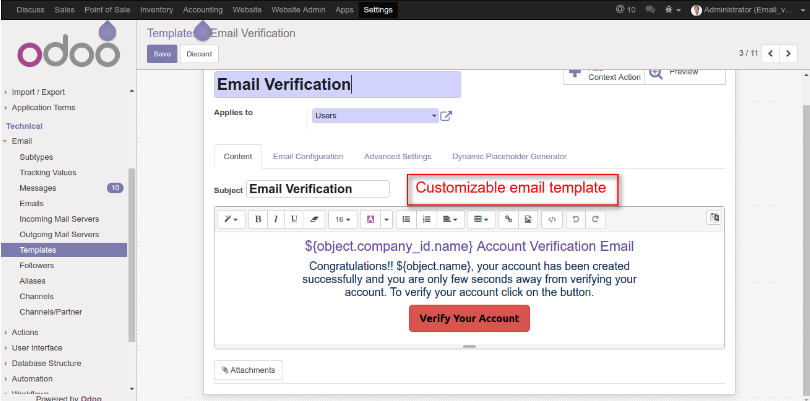 Website Email Verification