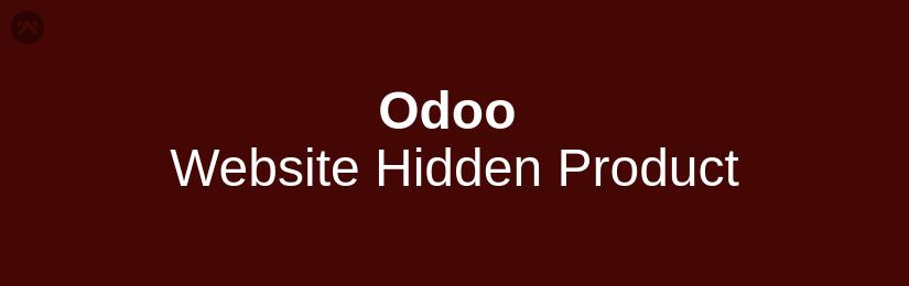 Odoo Website Hidden Product