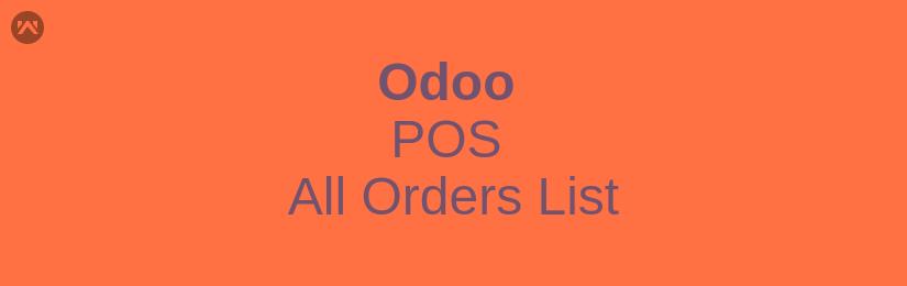 Odoo POS All Orders List